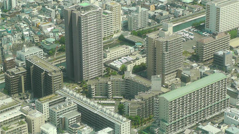 Tokyo Skytree Oshiage Aerial View to Tokyo 39 Stock Video Footage
