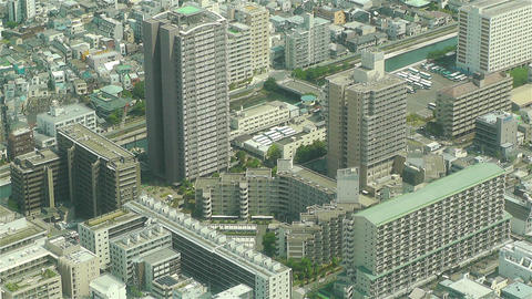 Tokyo Skytree Oshiage Aerial View to Tokyo 39 Footage