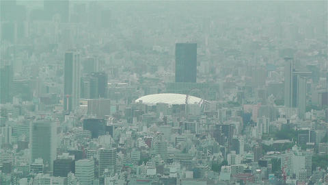 Tokyo Skytree Oshiage Aerial View to Tokyo 41 tokyo dome Stock Video Footage