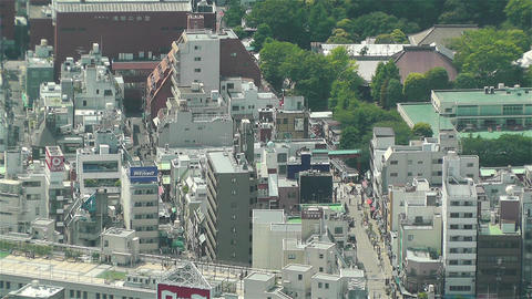 Tokyo Skytree Oshiage Aerial View to Tokyo 43 Stock Video Footage