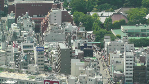 Tokyo Skytree Oshiage Aerial View to Tokyo 43 Footage