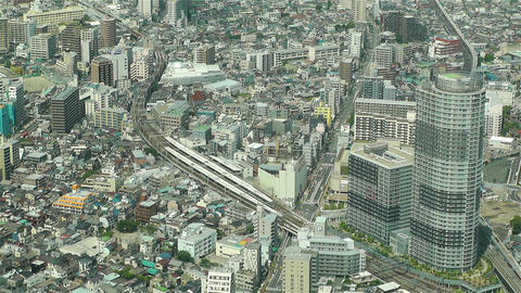 Tokyo Skytree Oshiage Aerial View to Tokyo 48 Footage