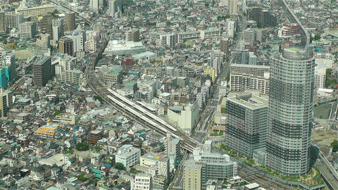 Tokyo Skytree Oshiage Aerial View to Tokyo 48 Stock Video Footage