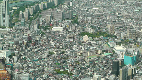 Tokyo Skytree Oshiage Aerial View to Tokyo 51 Stock Video Footage