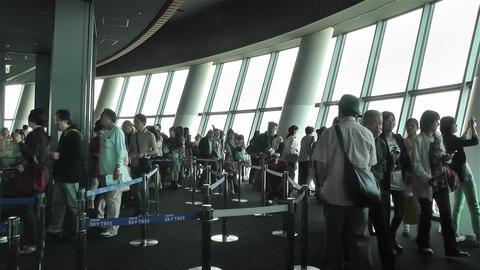 Tokyo Skytree Oshiage Floor 350 Stock Video Footage