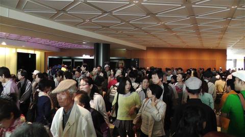 Tokyo Skytree Oshiage Waiting Line 1 Stock Video Footage