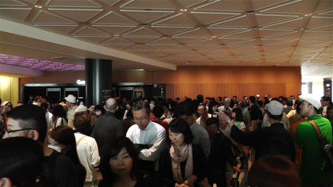 Tokyo Skytree Oshiage Waiting Line 1 Stock Video Footage