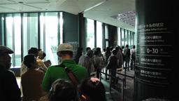 Tokyo Skytree Oshiage Waiting Line 3 Stock Video Footage
