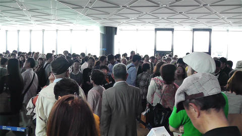 Tokyo Skytree Oshiage Waiting Line 5 Stock Video Footage