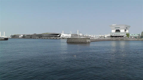 View to Osanbashi Pier Yokohama Japan 1 Footage