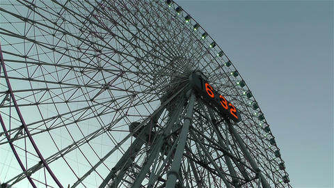 Yokohama Cosmoworld Ferry Wheel Japan 2 Footage