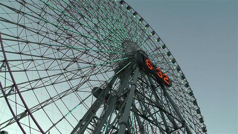 Yokohama Cosmoworld Ferry Wheel Japan 2 Stock Video Footage
