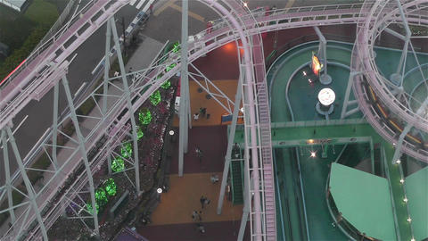 Yokohama Cosmoworld Japan 7 Footage