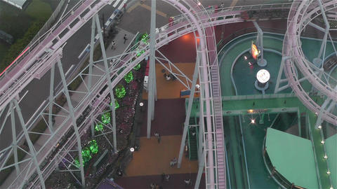 Yokohama Cosmoworld Japan 7 Stock Video Footage