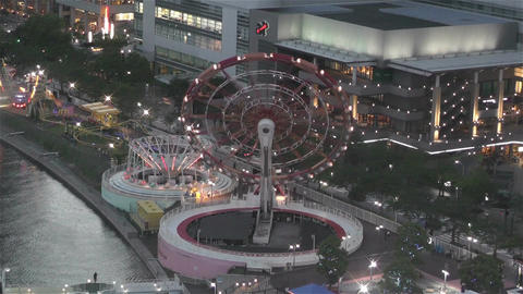 Yokohama Cosmoworld Japan 9 Stock Video Footage