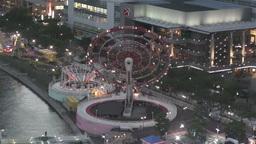 Yokohama Cosmoworld Japan 9 Stock Video Footage