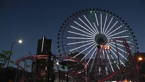 Yokohama Cosmoworld Japan 16 Stock Video Footage