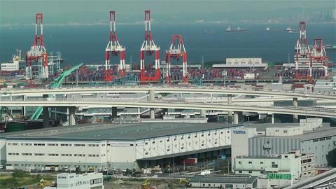Yokohama Japan Aerial 6 Stock Video Footage