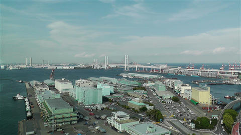 Yokohama Japan Aerial 8 Stock Video Footage