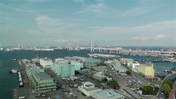 Yokohama Japan Aerial 8 Stock Video Footage