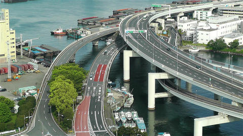 Yokohama Japan Aerial 10 Stock Video Footage