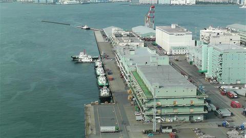 Yokohama Japan Aerial 16 Stock Video Footage