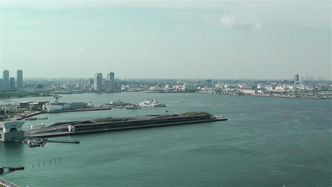 Yokohama Japan Aerial 18 Stock Video Footage