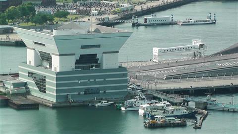 Yokohama Japan Aerial 22 Stock Video Footage
