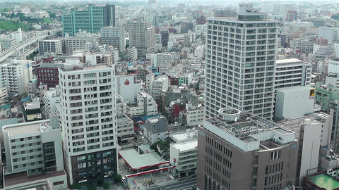 Yokohama Japan Aerial 26 Stock Video Footage