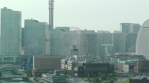 Yokohama Japan Aerial 31 Stock Video Footage