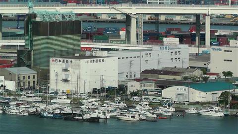 Yokohama Japan Aerial 42 Stock Video Footage