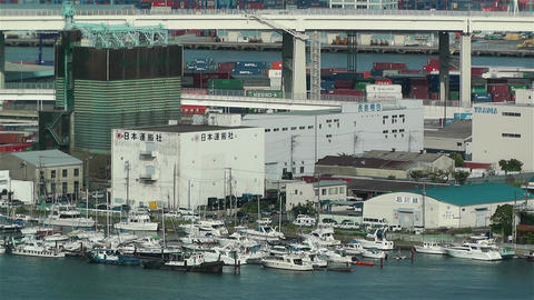 Yokohama Japan Aerial 42 Footage