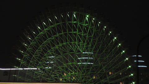 Yokohama Japan at Night 5 Footage