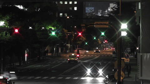 Yokohama Japan at Night 7 Stock Video Footage