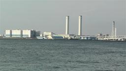 Yokohama Japan Port 1 Stock Video Footage