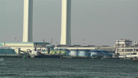 Yokohama Japan Port 3 ship Stock Video Footage
