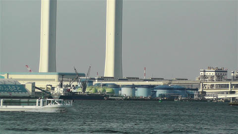 Yokohama Japan Port 3 ship Stock Video Footage