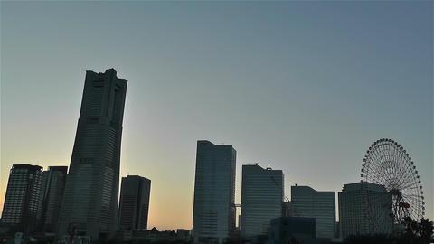 Yokohama Minato Mirai Japan 1 Stock Video Footage