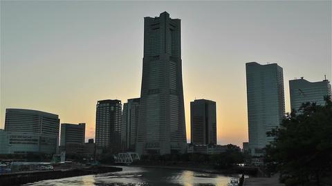 Yokohama Minato Mirai Japan 3 Stock Video Footage