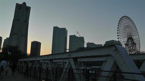 Yokohama Minato Mirai Japan 5 Stock Video Footage