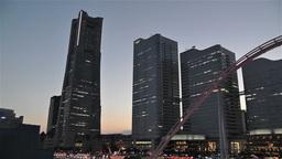 Yokohama Minato Mirai Japan 7 Stock Video Footage
