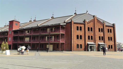 Yokohama Red Brick Warehouse Japan 2 Stock Video Footage