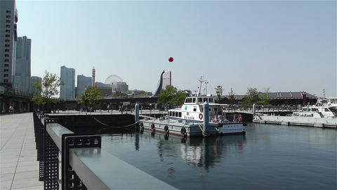 Yokohama Seaside Japan 2 Stock Video Footage