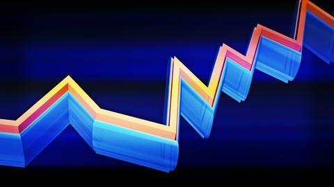3d rising transparent business graph, markets chart Stock Video Footage