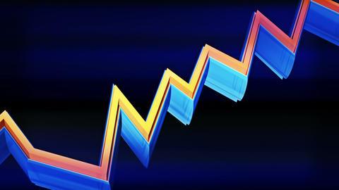 3d rising transparent business graph, markets chart Stock Video Footage