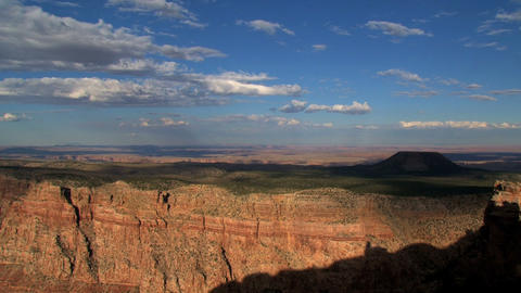 Timelpase of cloud shadows moving above the Grand Canyon Stock Video Footage