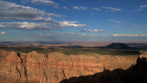 Timelpase of cloud shadows moving above the Grand Canyon Footage