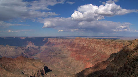 Grand Canyon shadow and clouds timelapse Footage