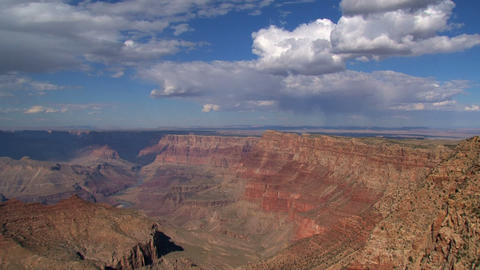 Grand Canyon shadow and clouds timelapse Stock Video Footage