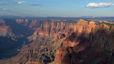 Clouds shadows moving above the grand canyon Stock Video Footage